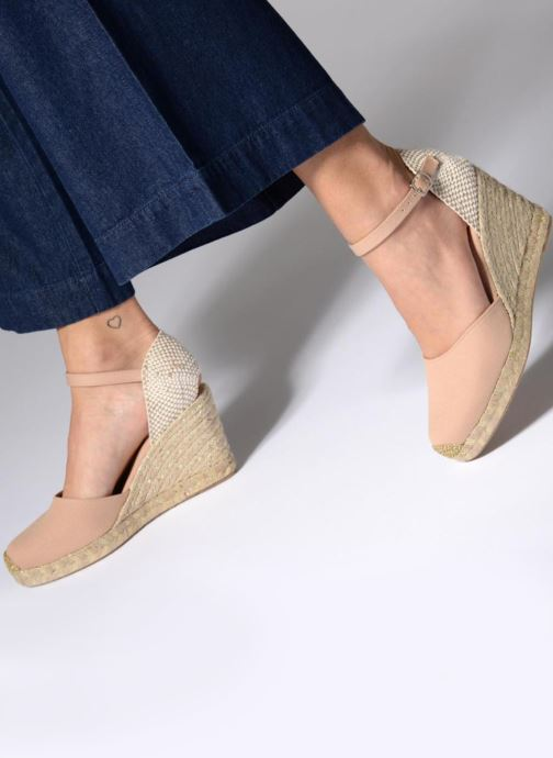 Espadrilles Georgia Rose Inagold Blue view from underneath / model view