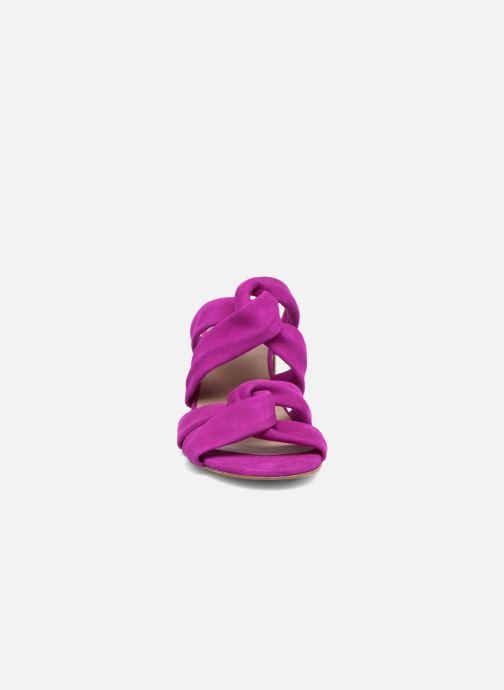 Mules et sabots Anaki JEAN Violet vue portées chaussures