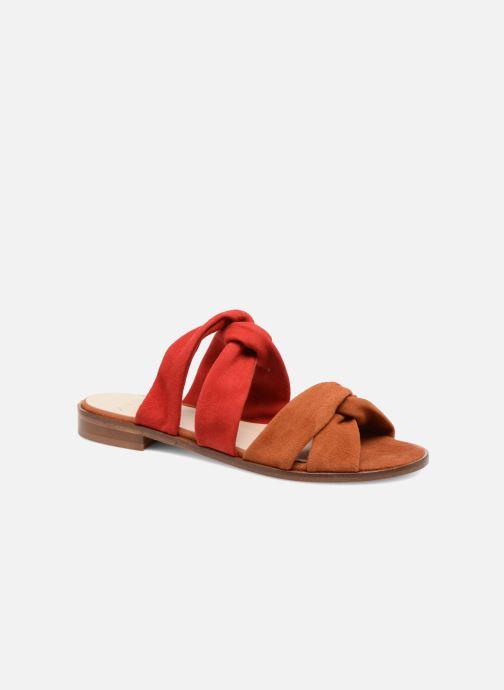 Sandales et nu-pieds Anaki VEGAS Rouge vue détail/paire