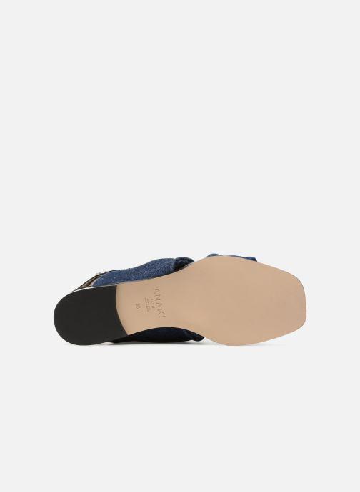 Sandales et nu-pieds Anaki GOLDEN Bleu vue haut