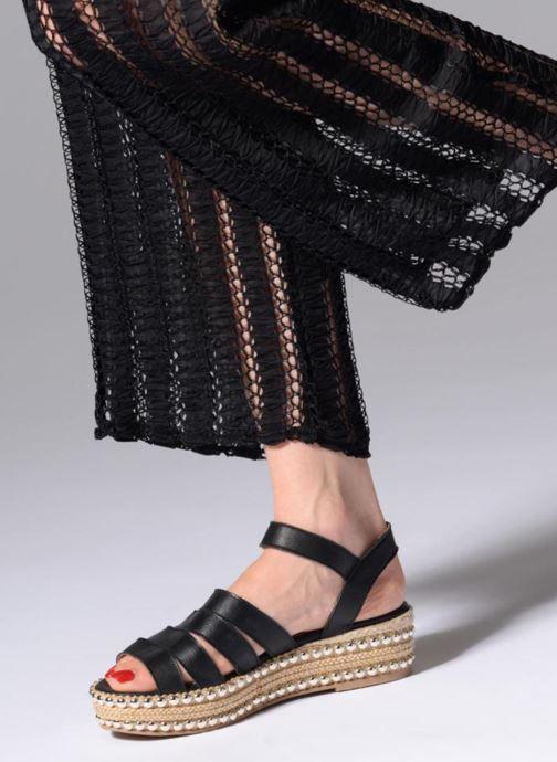 Sandales et nu-pieds Anaki NEVADA Noir vue bas / vue portée sac