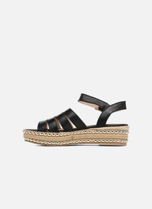 Sandales et nu-pieds Anaki NEVADA Noir vue face