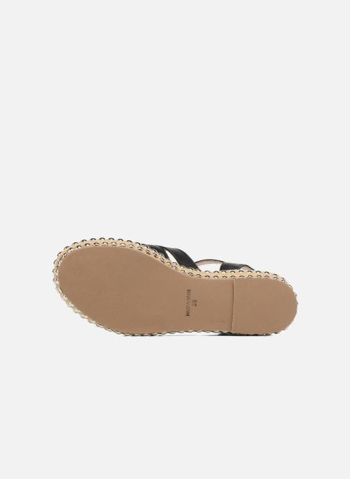 Sandales et nu-pieds Anaki NEVADA Noir vue haut