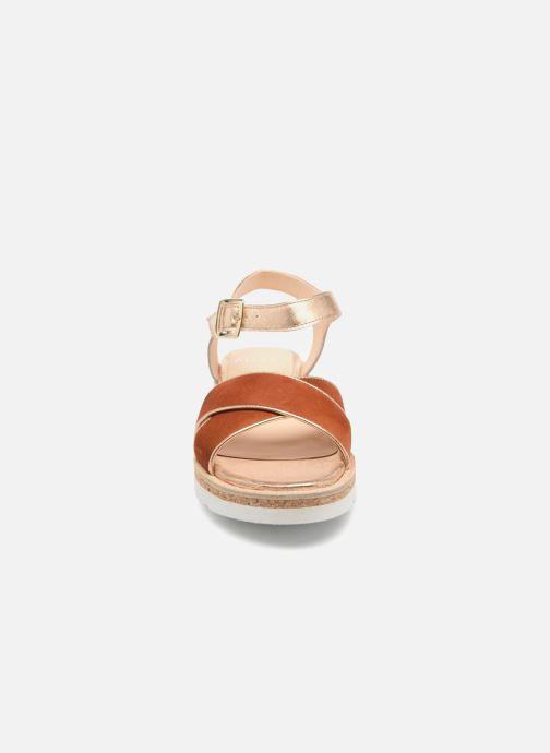 Sandales et nu-pieds Anaki RIMA Marron vue portées chaussures