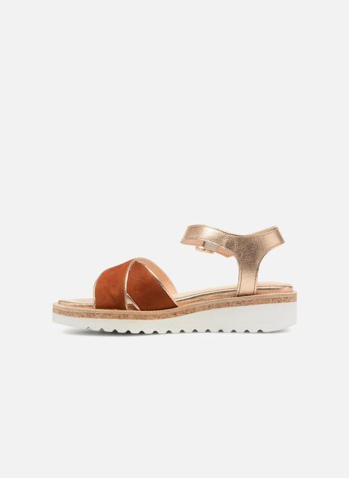 Sandales et nu-pieds Anaki RIMA Marron vue face