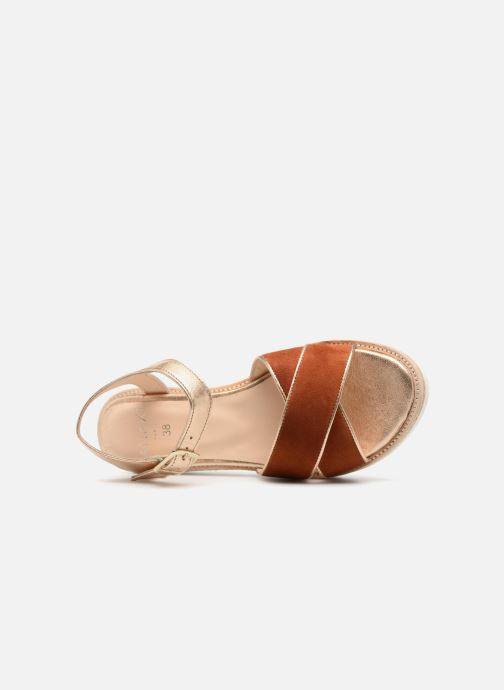 Sandales et nu-pieds Anaki RIMA Marron vue gauche