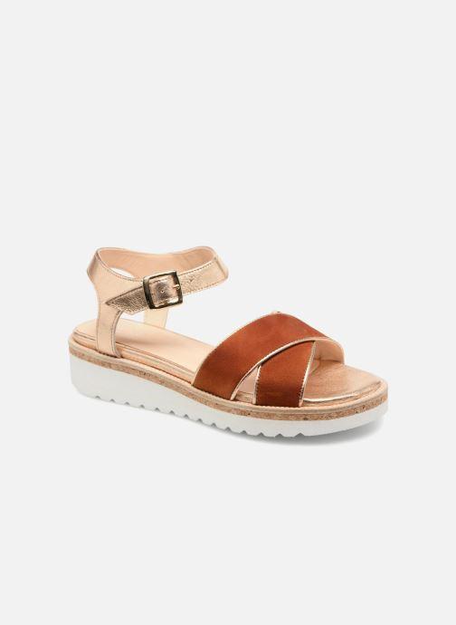 Sandales et nu-pieds Anaki RIMA Marron vue détail/paire