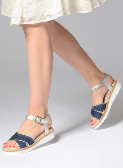 Sandales et nu-pieds Anaki RIMA Bleu vue bas / vue portée sac