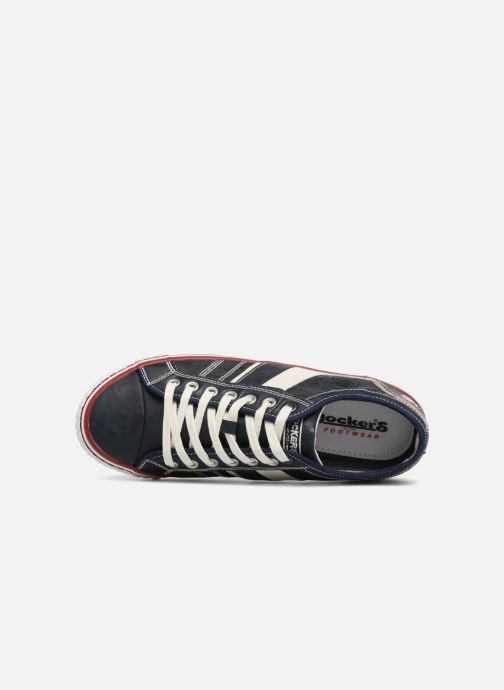 Sneakers Dockers Banoit Blauw links