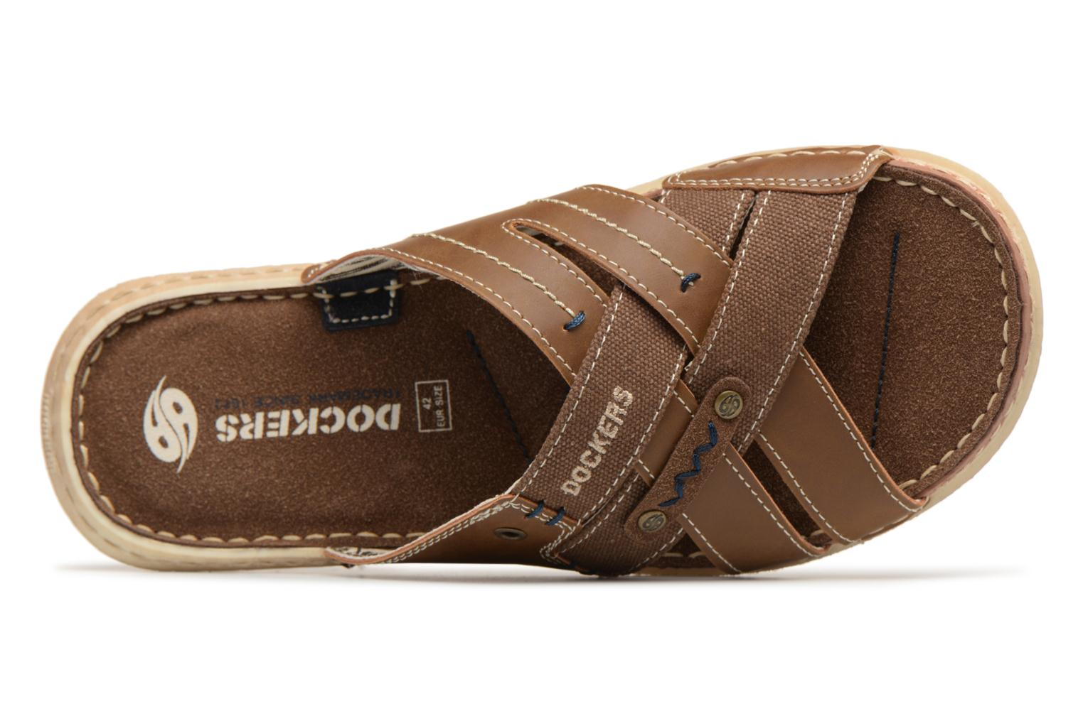 Sandals Dockers Ribin Brown view from the left