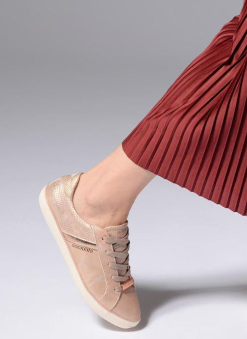 Trainers Dockers Ana Pink view from underneath / model view