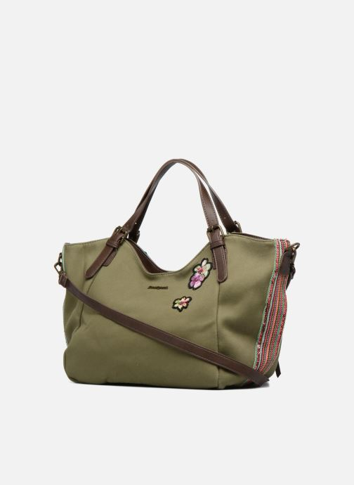 Handbags Desigual Rotterdam Pinday Green view from the right