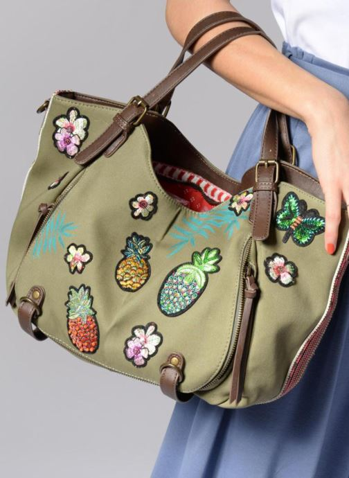 Handbags Desigual Rotterdam Pinday Green view from underneath / model view
