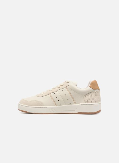 Baskets Faguo COMMON LEATHER SUEDE Blanc vue face