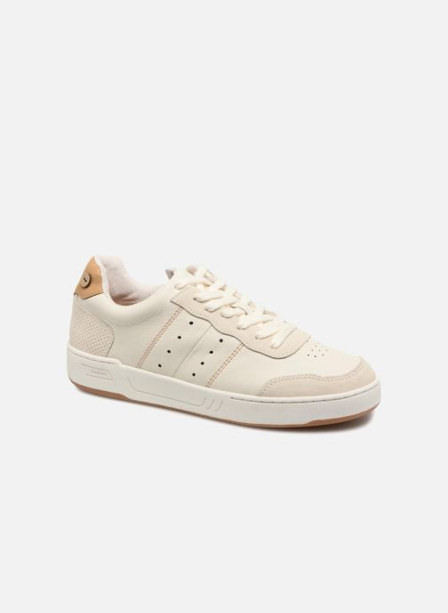 Baskets Faguo COMMON LEATHER SUEDE Blanc vue détail/paire