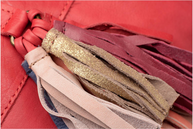 Sacs à main Pieces Izza Leather Crossbody Rouge vue gauche