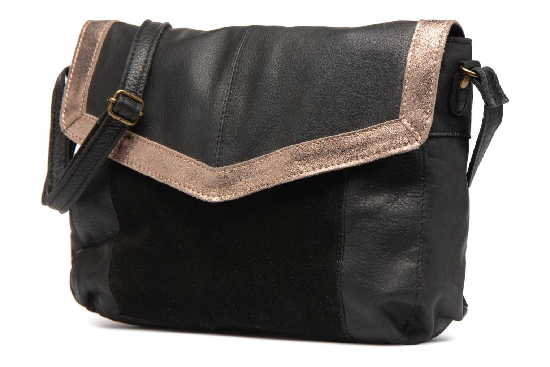 Sacs à main Pieces Isaura Leather Crossbody L Noir vue portées chaussures