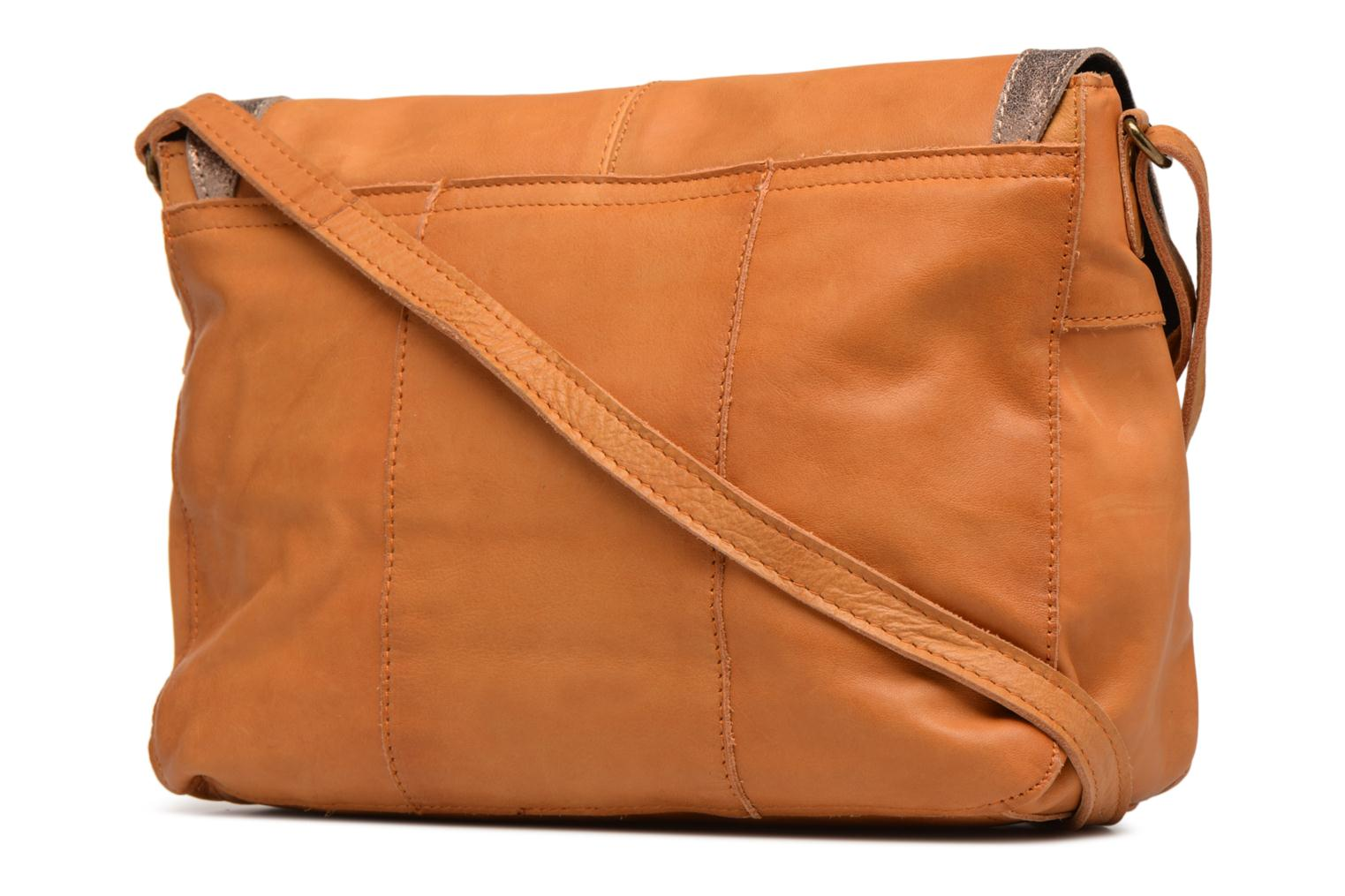L Pieces Cognac Leather Isaura Crossbody B1BF8WXg