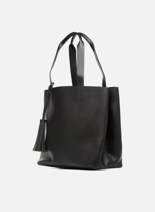 Handbags Pieces Illu Shopper Black model view