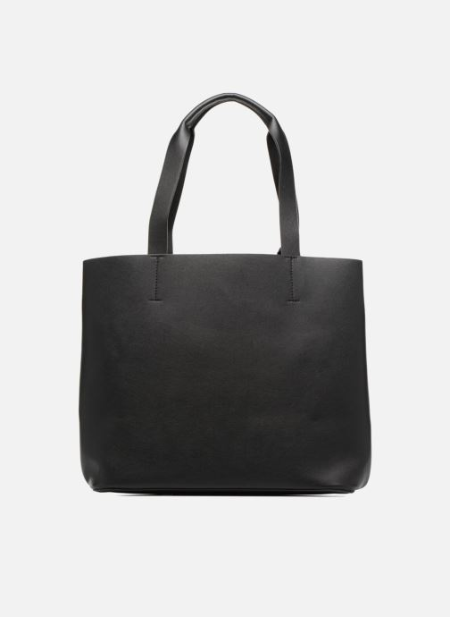 Handbags Pieces Illu Shopper Black front view