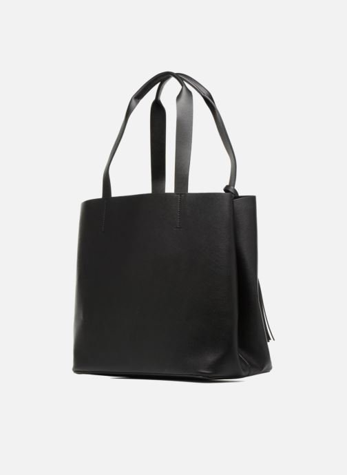 Handbags Pieces Illu Shopper Black view from the right