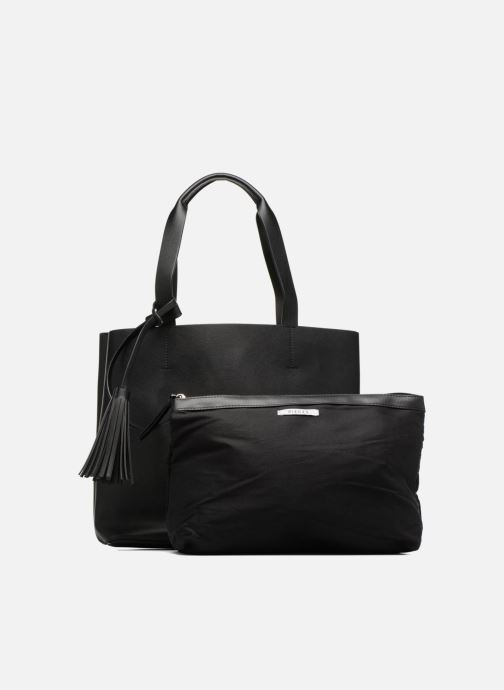 Handbags Pieces Illu Shopper Black view from the left
