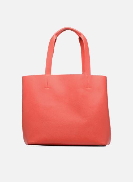 Handtaschen Pieces Illu Shopper rot ansicht von vorne