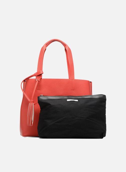Handtaschen Pieces Illu Shopper rot ansicht von links