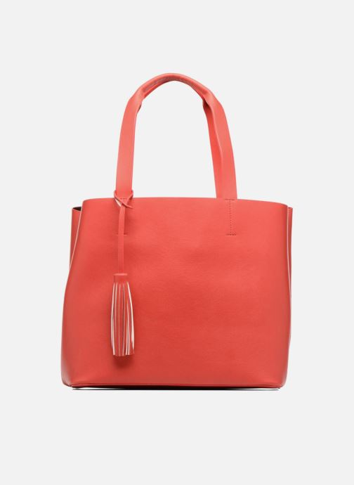 Handtassen Pieces Illu Shopper Rood detail