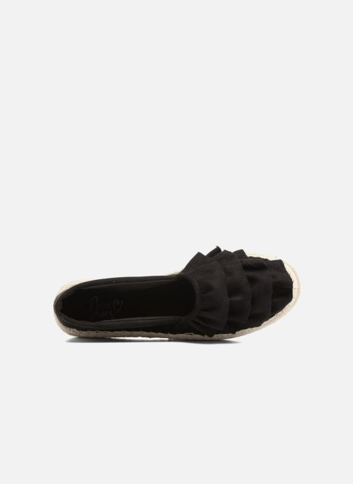 Alpargatas I Love Shoes MCDRILLE Negro vista lateral izquierda