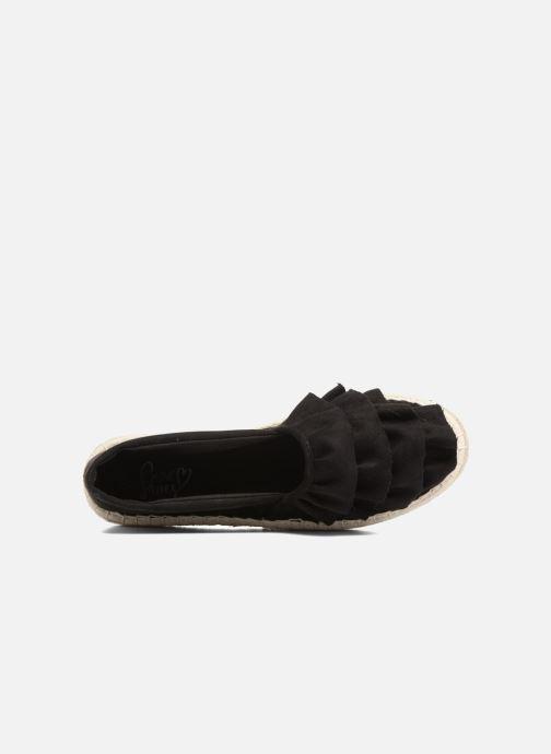 Alpargatas I Love Shoes MCDRILLE Negro vista lateral izquierda