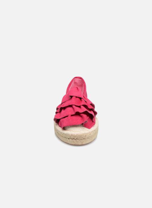 Espadrilles I Love Shoes MCDRILLE Rose vue portées chaussures