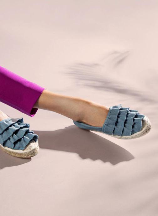 Espadrilles I Love Shoes MCDRILLE Bleu vue bas / vue portée sac