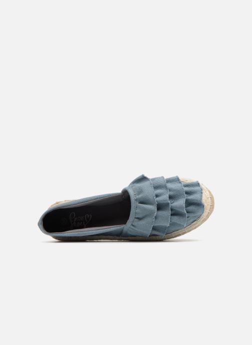 Alpargatas I Love Shoes MCDRILLE Azul vista lateral izquierda