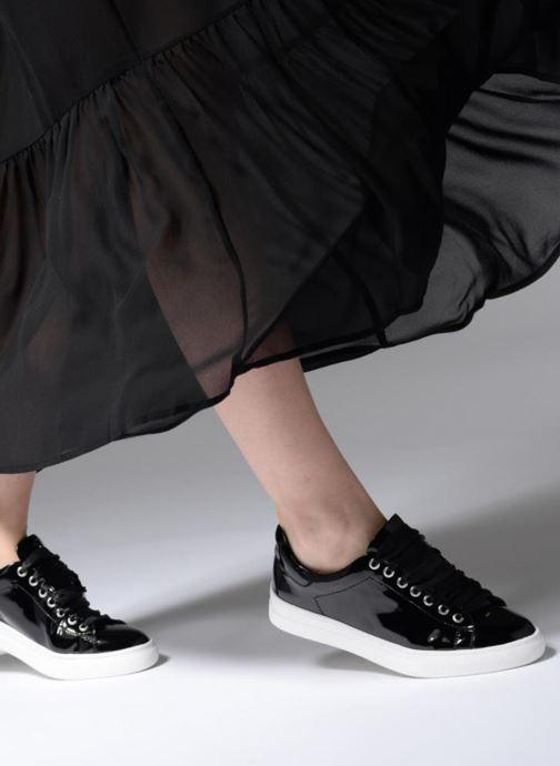 Baskets I Love Shoes MCSATIN Noir vue bas / vue portée sac