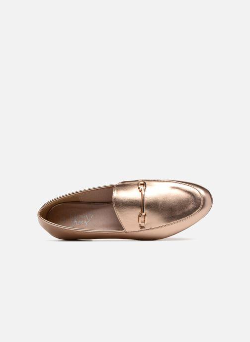 Mocasines I Love Shoes MCMOCA Oro y bronce vista lateral izquierda
