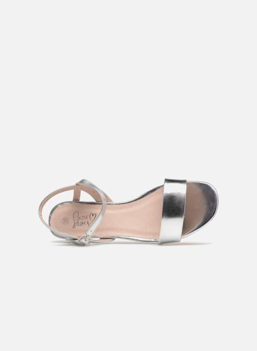 Sandales et nu-pieds I Love Shoes MCANI Argent vue gauche