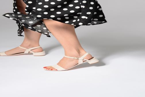 Sandals I Love Shoes MCANI Black view from underneath / model view