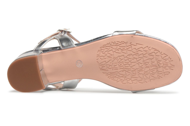 Sandales et nu-pieds I Love Shoes MCANI Argent vue haut