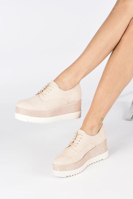 Chaussures à lacets I Love Shoes Thasty Rose vue bas / vue portée sac
