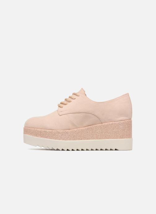 Schnürschuhe I Love Shoes Thasty rosa ansicht von vorne