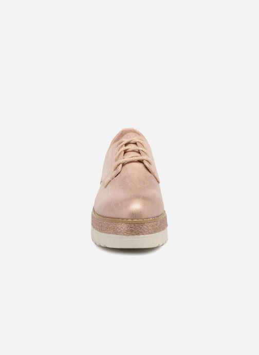 Chaussures à lacets I Love Shoes Thoussey Rose vue portées chaussures
