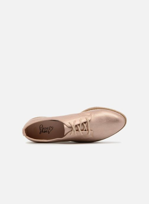 Chaussures à lacets I Love Shoes Thoussey Rose vue gauche