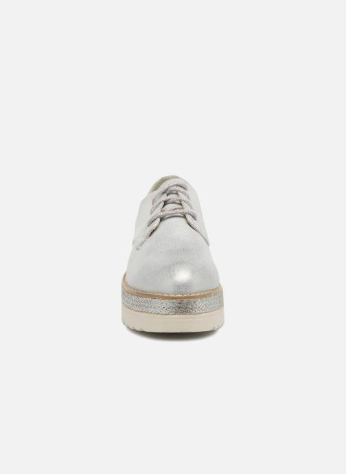 Schnürschuhe I Love Shoes Thoussey silber schuhe getragen