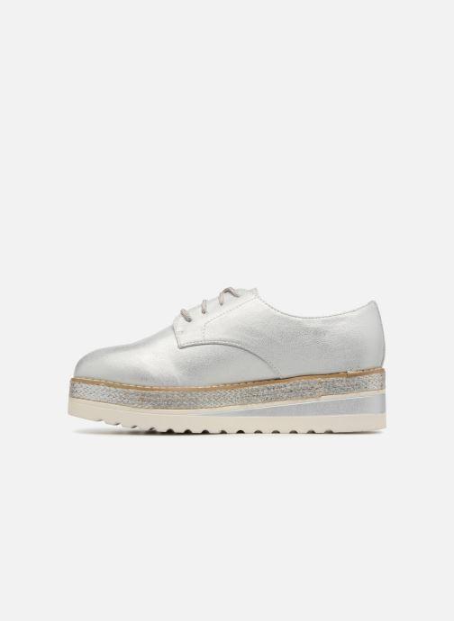 Schnürschuhe I Love Shoes Thoussey silber ansicht von vorne