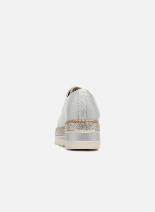 Schnürschuhe I Love Shoes Thoussey silber ansicht von rechts