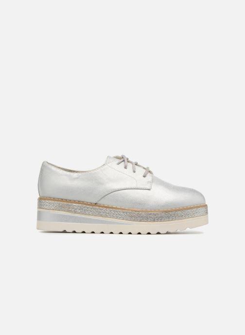 Schnürschuhe I Love Shoes Thoussey silber ansicht von hinten