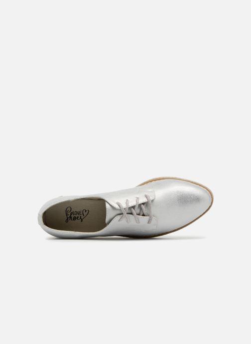 Schnürschuhe I Love Shoes Thoussey silber ansicht von links