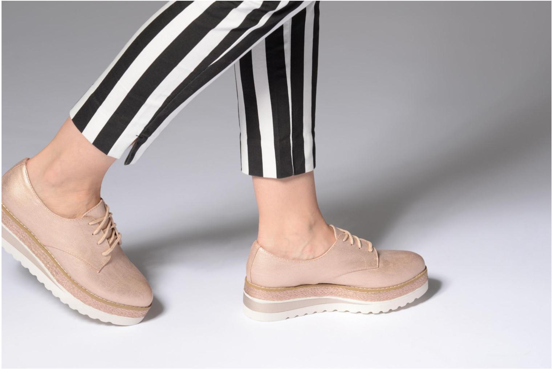 Chaussures à lacets I Love Shoes Thoussey Rose vue bas / vue portée sac