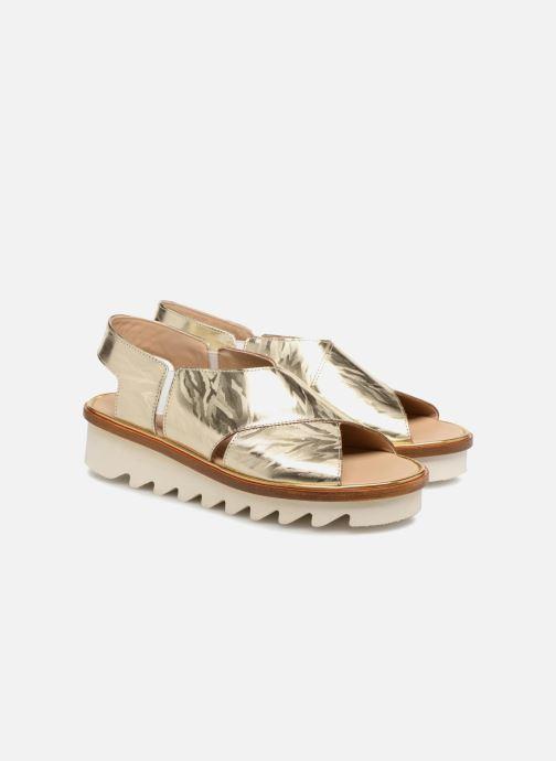 Sandales et nu-pieds MAURICE manufacture Lizan version 3 Or et bronze vue 3/4